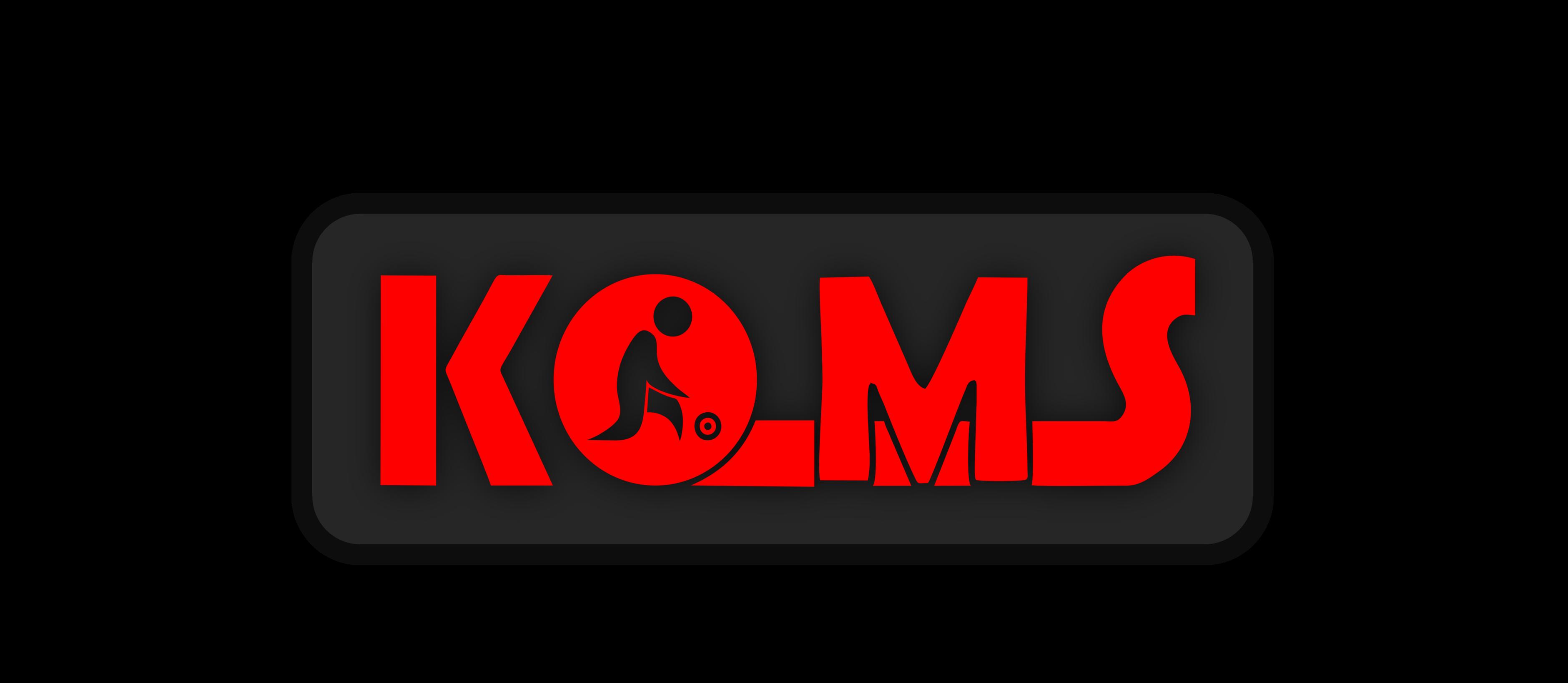 KOMS - dark red logo