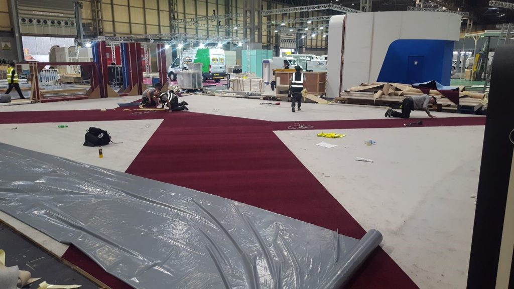 CV Show - RHA (cutting out carpet)